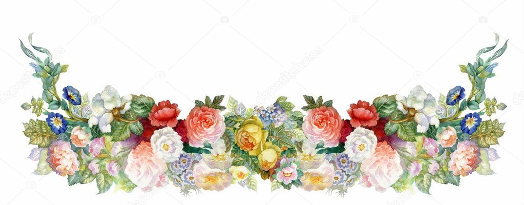Guirnalda de rosas — Foto de stock © nadiastar #13284636