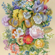 Watercolor Flower Collection: Flowers Bouquet — Stock Photo