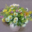 Bouquet of summer flowers - Stock Photo
