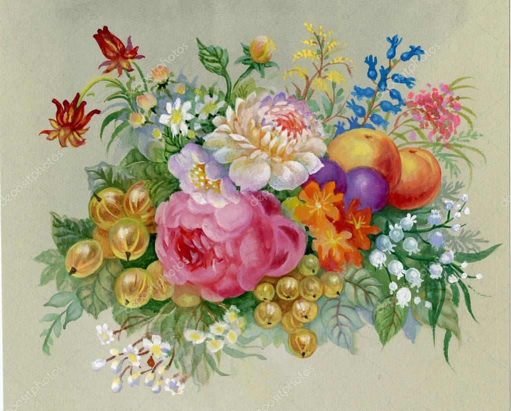 fiori e frutta foto stock nadiastar 20875615