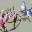 Painting collection Birds of spring — Stock Photo #30870323