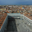 Overlooking St. Mark's Square in Venice from above — Stok fotoğraf