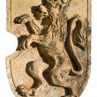 Coat clay with Bavarian lion - Stock Photo