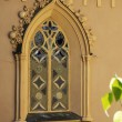 Windows of a Gothic church - Stock Photo