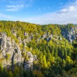 Lanscape in Saxon Switzerland near Bastei — Stock Photo