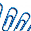 Blue paperclips — Stock Photo