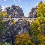 Bridge named Bastei in Saxon Switzerland — Stock Photo #13948265