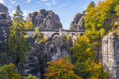 Bridge named Bastei in Saxon Switzerland — Foto Stock
