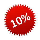 Red Button 10 Percent — Stock Vector