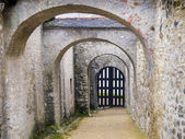 Archway of a castle in winter — Stock Photo