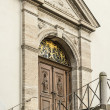 Entrance of a church - Stock Photo
