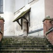 Stairs to entrance of a church — Stock Photo
