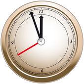 Bronze Clock — Stock Vector