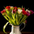 Bouquet of Flowers in Vase — Stock Photo