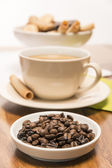 Beans with coffee — Stock Photo