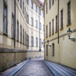 Narrwo alley in Prague — Stock Photo
