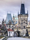 Charles Bridge Lesser Town — Stock Photo