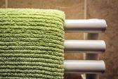 Grüne tuch auf kühler — Stockfoto