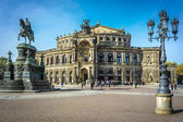 Drezna opera house — Zdjęcie stockowe