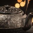 Cast iron teapot - Stock Photo