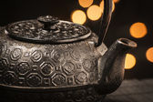 Cast iron teapot — Stock Photo