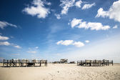 Sandy beach St. Peter-Ording — Stock fotografie