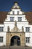 Detail of gatehouse in Husum — Stock Photo