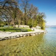 Shore of Lake Starnberg in Germany — Stockfoto