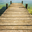 Jetty of weathered wood — Foto Stock