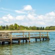 Dilapidated bathing jetty Chiemsee — Stock Photo
