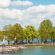 People at Chiemsee in Germany - Stock Photo