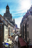 Narrow street in Dresden — 图库照片