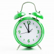 Green retro clock — Stock Photo #25531181