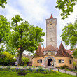 castle gate rothenburg — Stock Photo