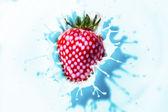 Flash exposure strawberry — Stock Photo