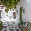 Mykonos narrow street — Stock Photo
