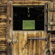 Wooden door of stable — Stock Photo