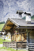 Huts in the Austrian Alps — Stock Photo