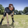 American Football Offensive Lineman in action — Stock Photo