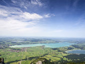 Landscape with lake Forggensee Bavaria — Stock Photo