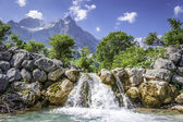Waterfall in the Austrian Alps — Stock Photo