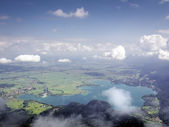 View from Herzogstand to Kochelsee — Stock Photo