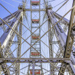 Metal construction ferris wheel Vienna — Stock Photo