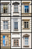 Collection of Vienna Windows — Stock Photo