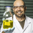 Scientific laboratory presents results — Stock Photo