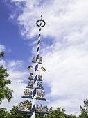 Traditional bavarian maypole — Stock Photo