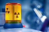 Warning lamp radioactive radiation — Stok fotoğraf