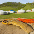 Components of a yurt — Stock Photo