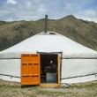 Typical Mongolian Yurt — Stock Photo