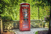 Red callbox — Stock Photo